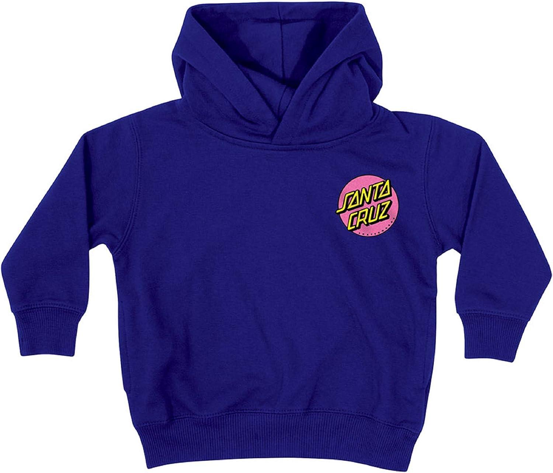 Santa Cruz Opus Dot P/O Hooded Kids Sweatshirt Navy/Pink, 2T