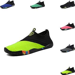 Aqua Water Sports Shoes for Men & Women Quick-Dry Surf Swim Shoes Barefoot Yoga Anti-Slip Socks with Mesh Upper