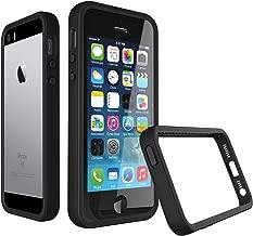 RhinoShield Bumper Case for iPhone 5 / 5s / SE [CrashGuard]   Shock Absorbent Slim Design Protective Cover [3.5 M/11ft Drop Protection] - Black