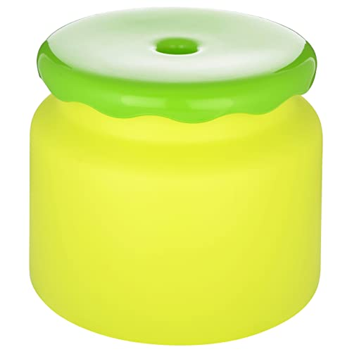 All Time Frosty Plastic Bathroom Stool - 26.4 cm x 26.4 cm x 21.3 cm, Green
