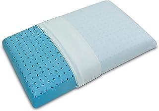 Baldiflex Colchón, cojín de Memory Foam Modelo saponetta Premium Fresh, Almohada Memory con Agujeros de transpiración, contra el Dolor de Cuello y cervicales, ortopédico, refrescante
