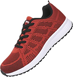JARLIF Men's Breathable Fashion Walking Sneakers Lightweight Athletic Tennis Running Shoes US6.5-11.5