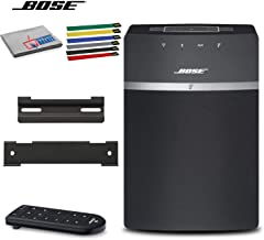 Bose SoundTouch 10 Wireless Music System (Black) Bundle with Wall Mount Kit, Cable Ties and Microfiber Cloth