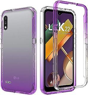 Capa para LG K22/LG K22+ Plus, UZER 2 em 1, capa protetora transparente aprimorada, moldura de policarbonato, durável, abs...