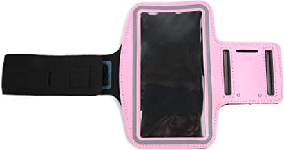 DURAGADGET Premium Quality Unisex Sports Armband in Pink - Suitable for Alcatel 2008G   A7   Idol 5   Idol 5S   One Touch 1016D