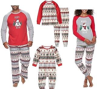 Conjunto de Pijamas a Juego Familiar de Navidad para papá mamá niños bebé Ropa de Dormir Ropa de Dormir
