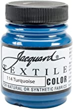 Jacquard Products TEXTILE-1114 Textile Color Fabric Paint, 2.25-Ounce, Turquoise