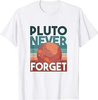 PLUTO NEVER FORGET Nine Planets Solar System Meme T-Shirt