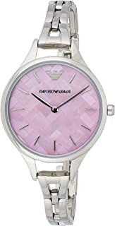 Emporio Armani Women's Quartz Stainless Steel Casual Watch, Color:Silver-Toned (Model: AR11122)