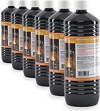 6 x 1 L huile de paraffine pour lampe inodore incolore - FRAIS DE PORT OFFERT - en bouteilles de 1 L