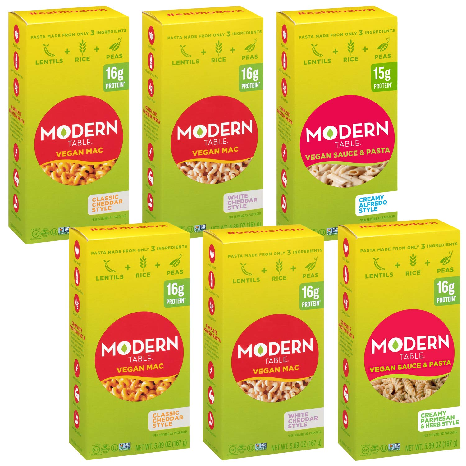 Modern sold New life out Table Vegan Pasta Meals 6 Count Variety Pack