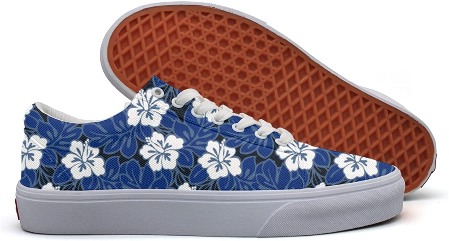 Casual Hibiscus Flowers And Tropical Leaves Pretty Women Canvas shoes