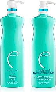 Malibu C Un-do-goo Shampoo and Miracle Repair Liter Duo