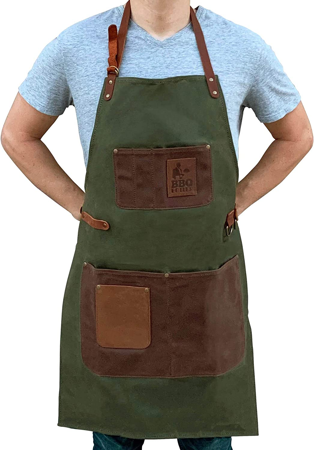 BBQ Butler Jacksonville Mall Grill Apron - Cooking Waxed Time sale Canvas Adjustable