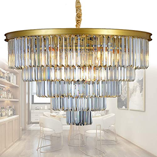 Chandelier Gold With Crystal Amazon