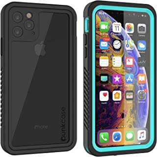 """Punkcase iPhone 11 Pro Max Waterproof Case [Extreme Series] [Slim Fit] [IP68 Certified] [Shockproof] Cover W/Built in Screen Protector Compatible with Apple iPhone 11 Pro Max (6.5"""") turquoise"""