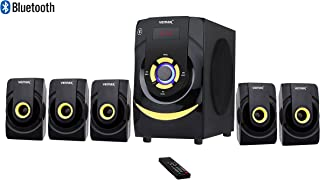 Vemax Beat 5.1 Bluetooth Multimedia Home Theater System 5.25 inch Woofer with FM USB AUX Bass & Treble Control (Black & Yellow)