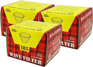 カリタ コーヒーフィルター ウェーブシリーズ 2~4人用 50枚入り×3個セット ホワイト KWF-185#22210