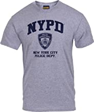 Grey Physical Training NYPD New York City Police Dept Logo T-Shirt