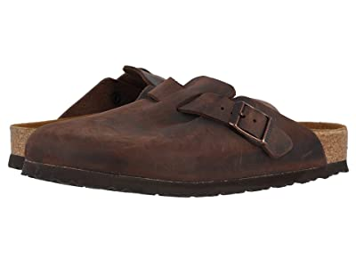 Birkenstock Boston Soft Footbed (Unisex) (Habana Oiled Leather) Clog Shoes