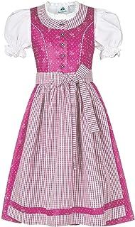 Isar-Trachten Mädchen Kinderdirndl mit Bluse pink, PINK pink, 80