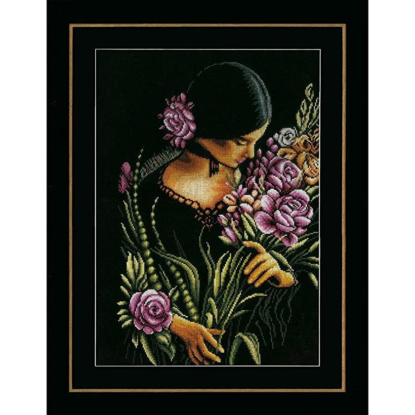 Lanarte Woman & Flowers Counted Cross-Stitch Kit
