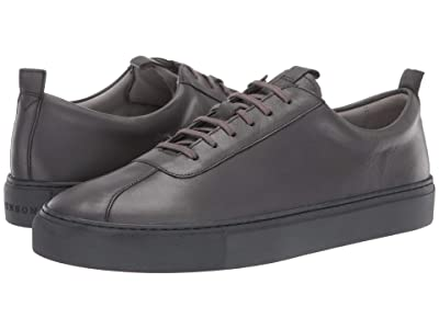 Grenson Smooth Leather Basic Sneaker (Grey Calf) Men