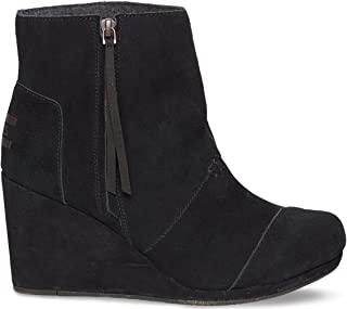 Women's Desert Wedge High Black Suede Boot 12 B (M)