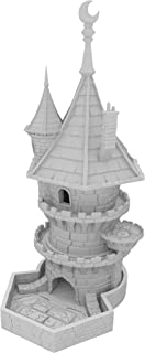 Fates End Dice Tower: Wizard, Kleur:Grey, Style:Dice Tower with large tray
