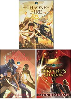 Kane Chronicles Graphic Novels 3 Books Collection Set By Rick Riordan (The Throne of Fire, The Serpent's Shadow, The Red P...