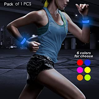 BSEEN LED Armband,  Glow in The Dark Led Slap Bracelets Sports Event Wristband for Men& Women,  Night Safety Lights for Running,  Jogging,  Cycling,  Hiking