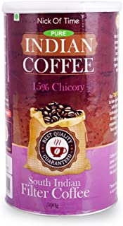 Nick of Time Chicory Blend South Indian Filter Coffee 85-15 (500gm/17.6oz)