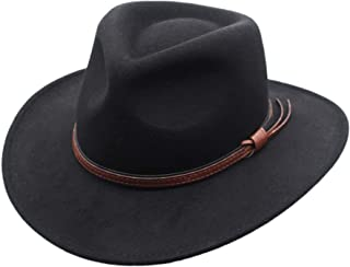 Crushable Outback Cowboy Western Wool Hat, Silver Canyon