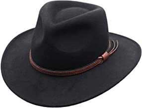 Western Cowboy Hat Cattlemans with Cavalry Band Black