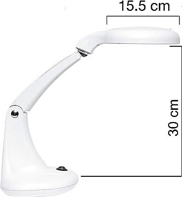 UNILUX 400108074 Mini Zoom - Lámpara de escritorio LED (3 dioptrías, lente de lupa de 1,75 aumentos y lente adicional de 12 dioptrías con 7 aumentos [clase energética A+]