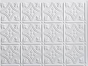 Fasade Easy Installation Traditional 1 Gloss White Backsplash Panel for Kitchen and Bathrooms (18