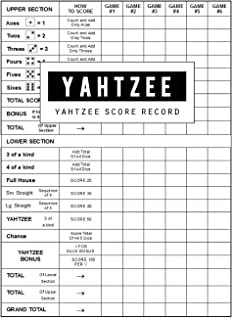 Yahtzee Score Record: Yahtzee Game Record Score Keeper Book, Yahtzee Score Sheet, Yahtzee score Card, Write in the player name and record dice thrown, Size 8.5 x 11 Inch, 100 Pages
