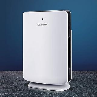 Devanti Air Purifier Portable Purifier HEPA Filter Freshener Carbon Ioniser Cleaner w/Remote Timer