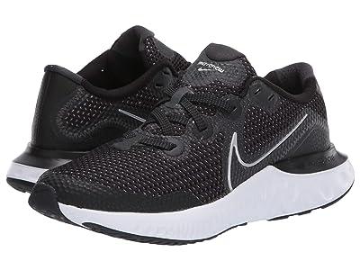 Nike Kids Renew Run (Big Kid) (Black/Metallic Silver/White/Wolf Grey) Kids Shoes