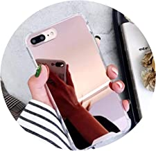 Luxury Mirror Shockproof Phone Cases for iPhone X Xr Xs Max Case for iPhone 6 6S 7 8 Plus 5S 5 Se Soft TPU Back Cover,Rose Gold,for iPhone Xs Max