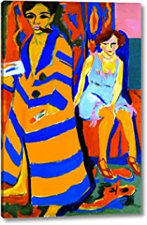 Self-Portrait with Model by Ernst Ludwig Kirchner - 12