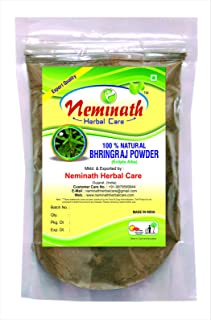100% Natural Bhringraj Leaves (ECLIPTA ALBA) Powder for FIGHTING HAIR FALL NATURALLY by Neminath Herbal care (1/2 lb / 8 ounces / 227 g)