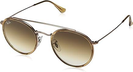 Ray Ban Unisex-Yetişkin Güneş Gözlükleri 0RB 3647N 907051 51, LIGHT BROWN\CLEARGRADIENTBROWN,