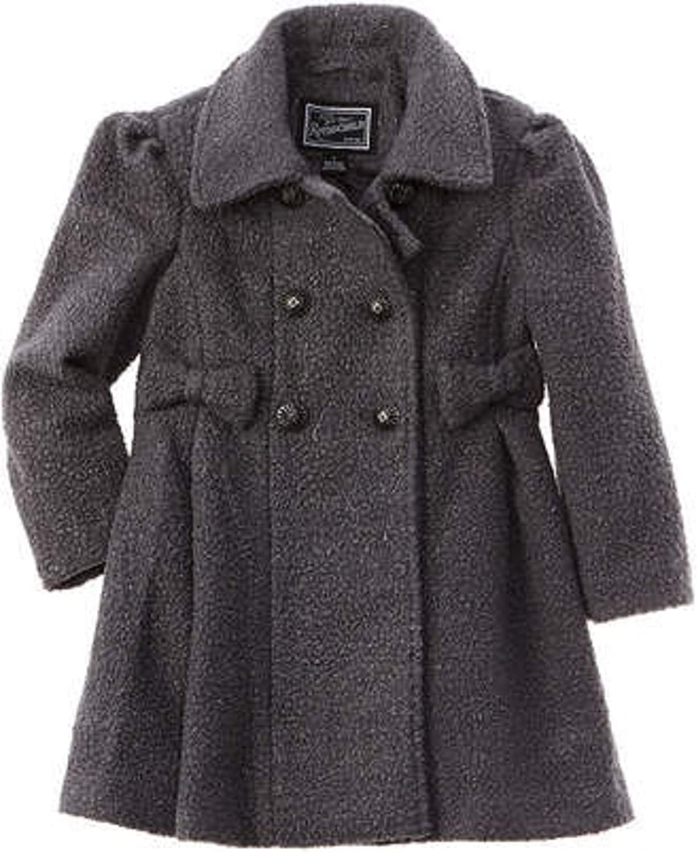 Rothschild Sparkle Bow Coat Gray 7/8