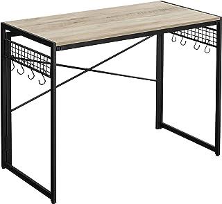 VASAGLE Bureau, Table d'Ordinateur, Table Informatique, Pliable, avec 8 Crochets, Poste de Travail, Montage sans Outils, S...