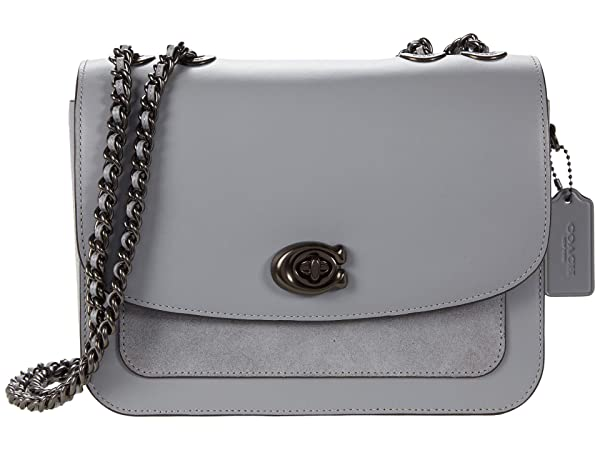 COACH Mixed Leather with Suede Pocket Madison Shoulder Bag