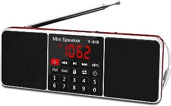 Lefon Multifunction Digital FM Radio Media Speaker MP3 Music Player Support TF Card USB..