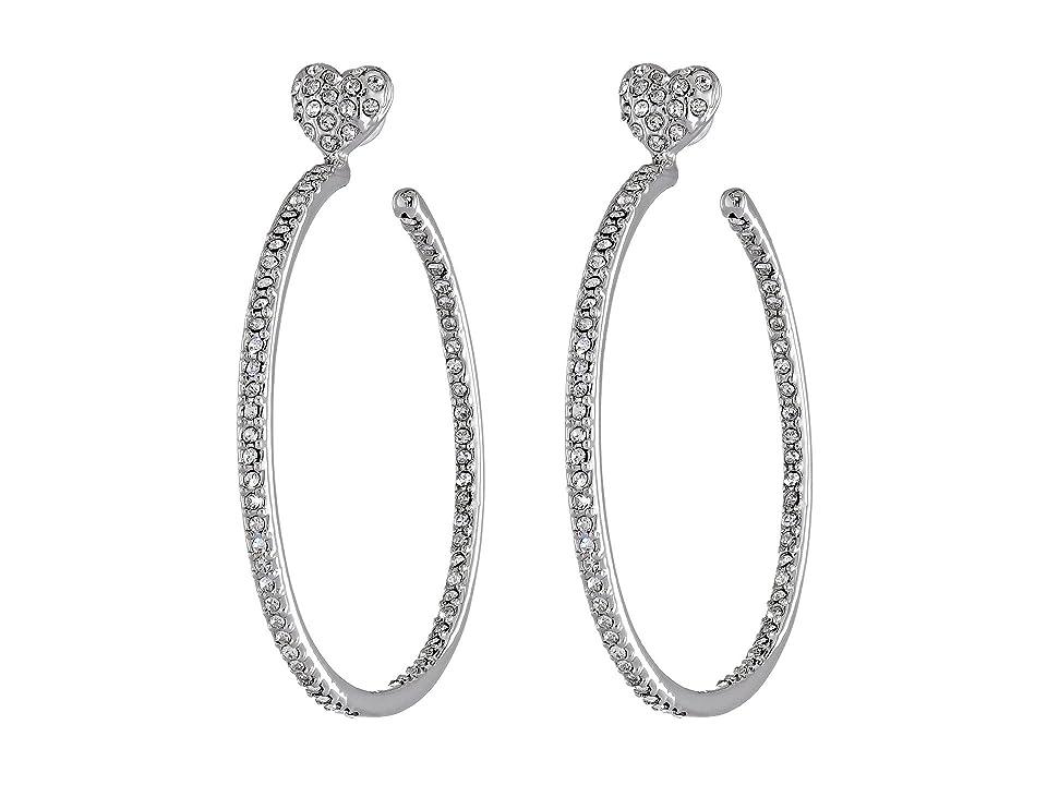599ff9fdcc87b UPC 885043945958 - Betsey Johnson Hoop Crystal Heart Gold Medium ...