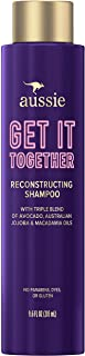 Aussie Get It Together Reconstructing Shampoo, Triple Oil Blend of Avocado, Australian Jojoba and Macadamia Oils, Paraben & Dye Free, 9.6 Oz