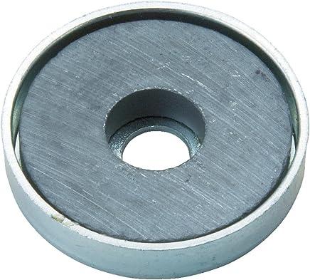 TRUSCO 带盖铁氧体磁石 10个装 外径(mm): 46.0厚み(mm): 4.7穴径(mm): 5 TFC46RA10P